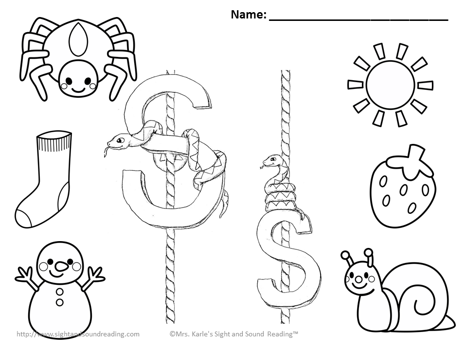 s sound coloring pages - photo #1