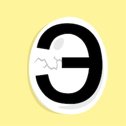 Russian alphabet letter e