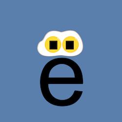 Russian alphabet letter yo