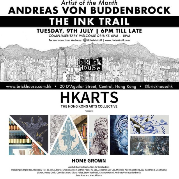 Andreas von Buddenbrock's Solo And Group Exhibit In Hong Kong