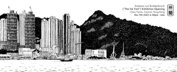 Andreas von Buddenbrock's The Ink Trail Exhibition in HK
