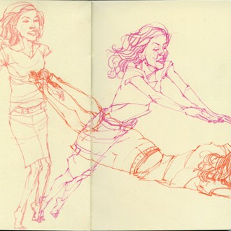 "Deanna Staffo's sketchbook featured on ""Book By Its Cover"" blog"