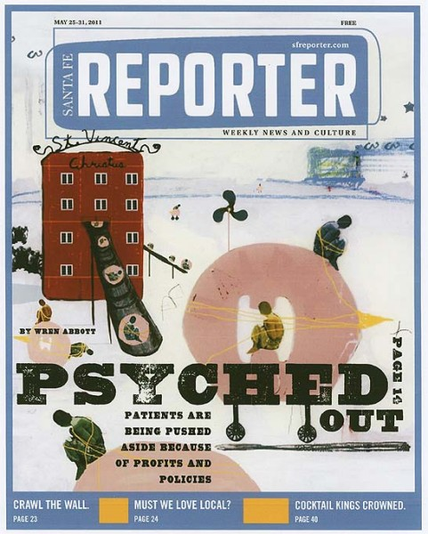 Steven Dana PSYCHED OUT Cover for Santa Fe Reporter