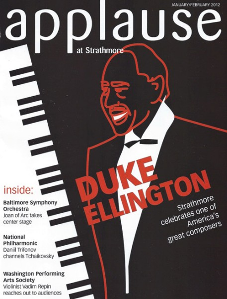 Duke Ellington Strathmore Applause Magazine Cover