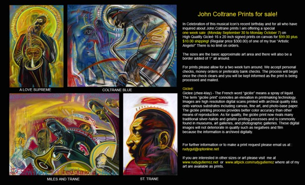 John Coltrane Prints for Sale!
