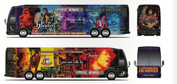 Experience Hendrix Tribute Tour Bus :: Designed by SMAY