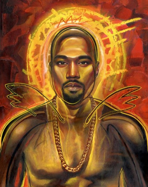 Rudy Gutierrez's Illustration of Kanye West for EW