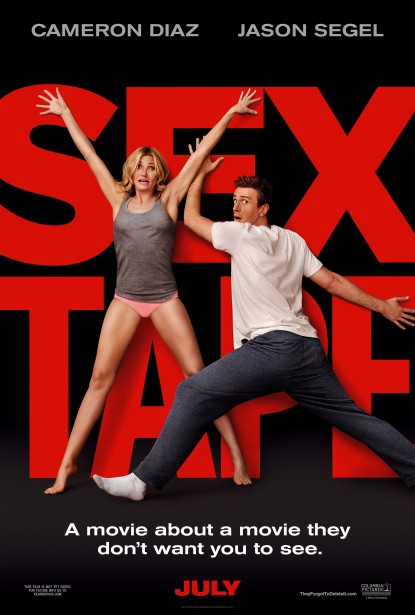 "Art Streiber photographs Cameron Diaz and Jason Segel's ""Sex Tape"" movie poster"