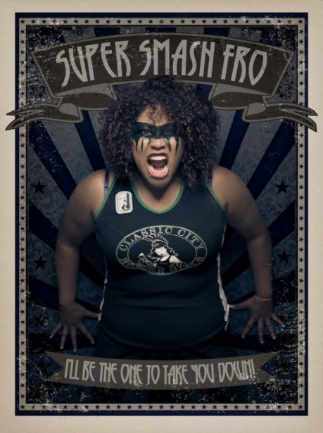 Jim Fiscus shoots trading-card-style portraits of Georgia's fierce Classic City Rollergirls