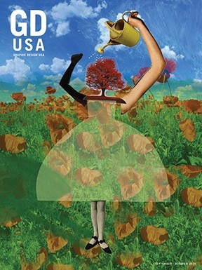 Barbara Kosoff on the cover of Graphic Design USA!