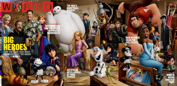 Art Streiber's Disney Animation Studios cover shoot for WIRED