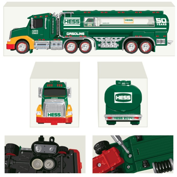 50th Anniversary HESS Truck Packaging Illustrations