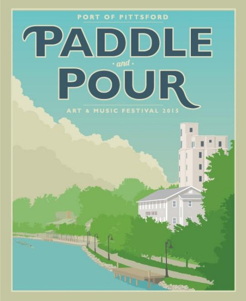 Chris Lyons Illustrates For the Paddle & Pour Festival