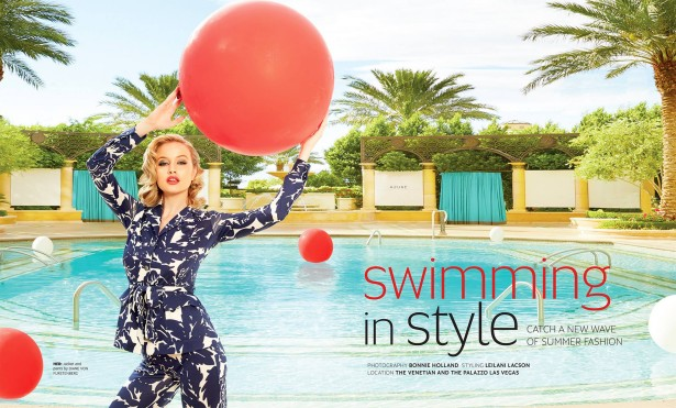"Bonnie Holland's ""Swim Story"" for the Venetian Resort"