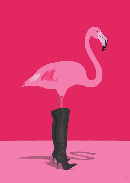 Paul Garland Creates Fashion For Flamingos