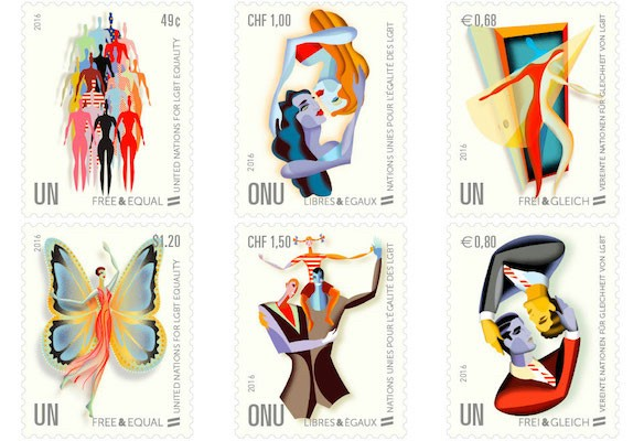 United Nations Issues LGBT Stamps