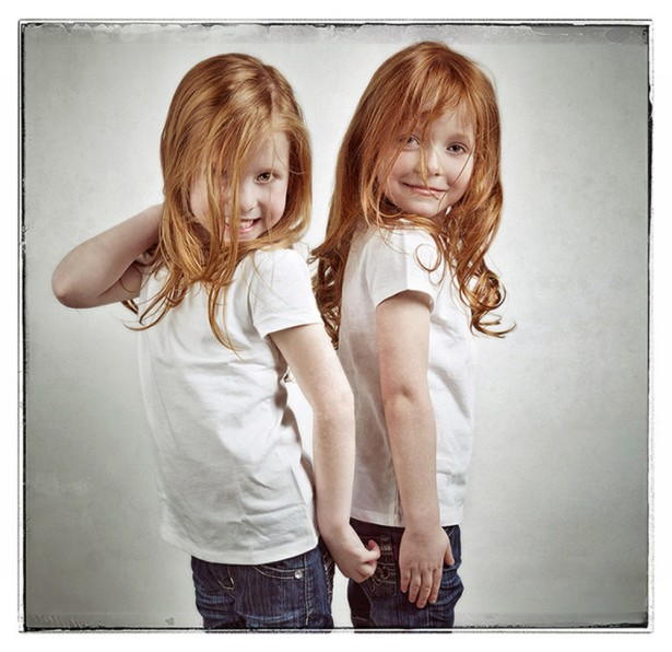 "Keith Barraclough Photographs Twins For ""Redhead Project"""