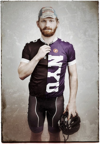 Barraclough Photographs Member of the NYU Cycling Team