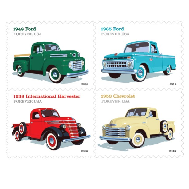 Chris Lyons' Retro Pickup Truck Stamp Series Is Finally Out!
