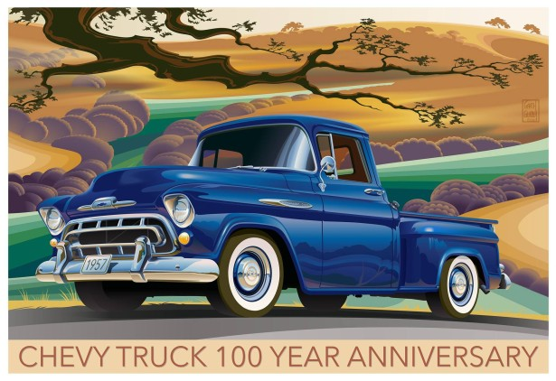 CHEVROLET TRUCK 100 YEAR ANNIVERSARY POSTER