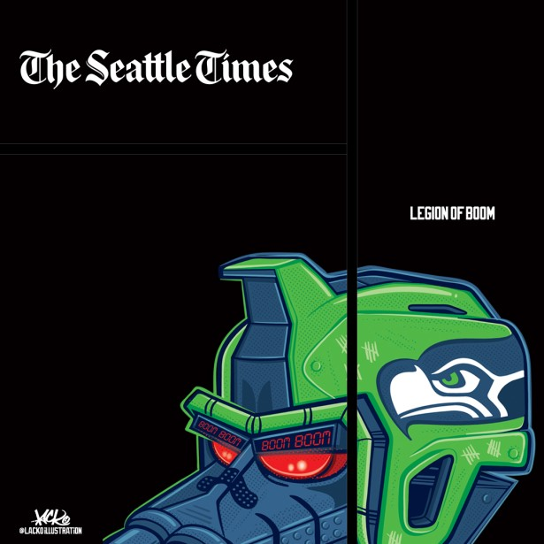 Seattle Times NFL Preview Cover Illustration