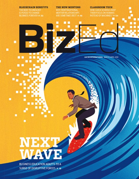 Guidone Illustrates Series for BizEd magazine