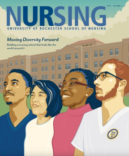 Chris Lyons Covers Nursing Magazine