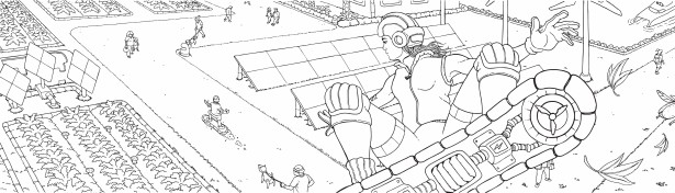 Andreas von Buddenbrock Illustrates for World's Largest Coloring Book!