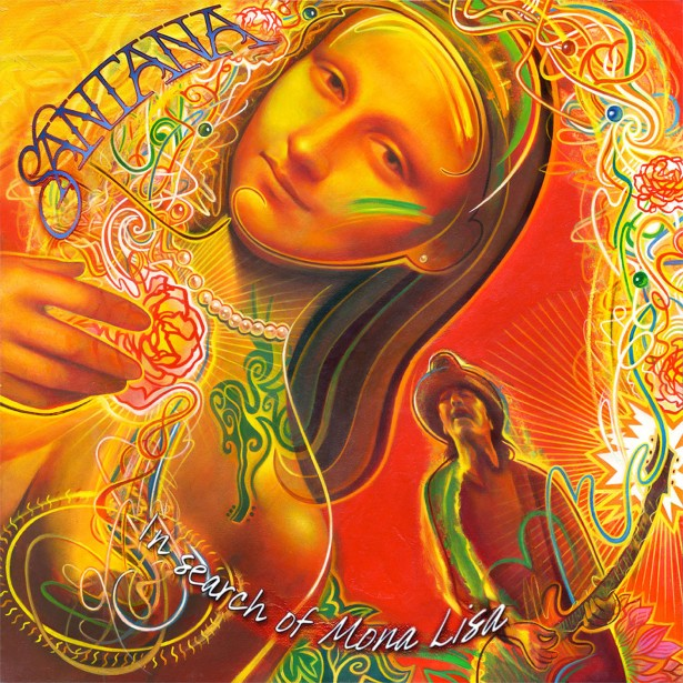 "Rudy Gutierrez's Cover Art for Santana's Latest EP ""In Search of Mona Lisa""!"