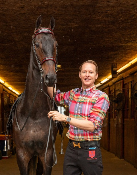 Kamper Photographs Carson Kressley for Equestrian Living