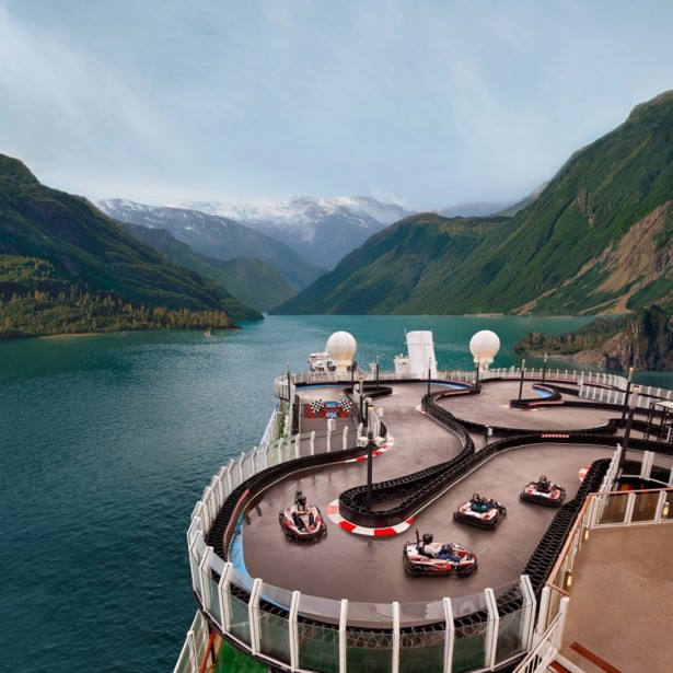 Steele Shoots Super Bowl Ad for Norwegian Cruise Line (In Alaska)