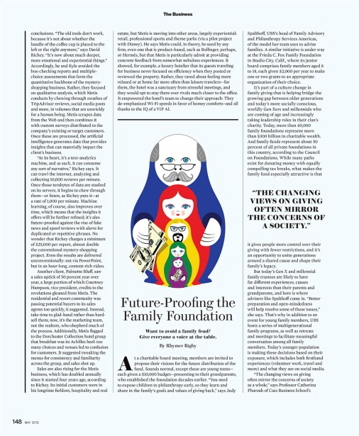 "Garland's ""Family Philanthropy"" for Robb Report Magazine"