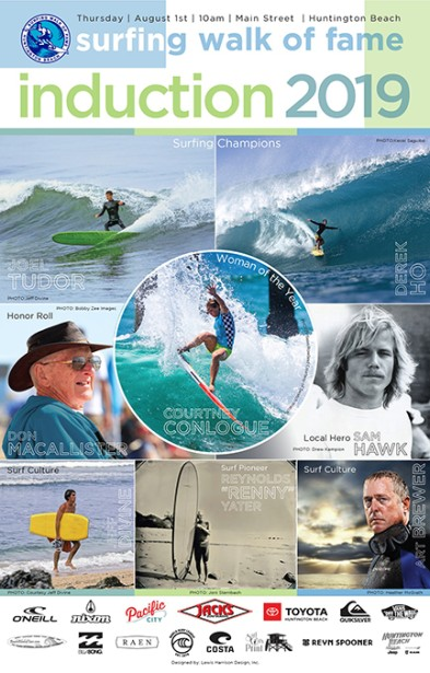 Art Brewer Inducted into 2019 Surfing Walk of Fame for his contribution to surf culture.
