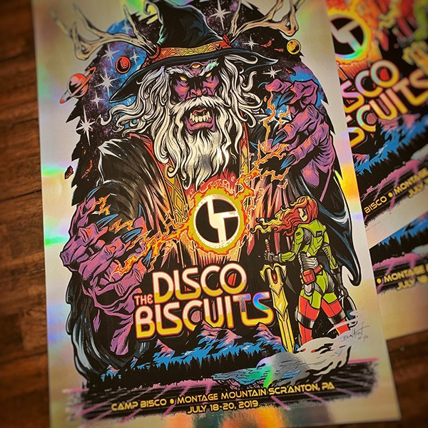 The Disco Biscuits Official T-shirt and Gig Poster Design