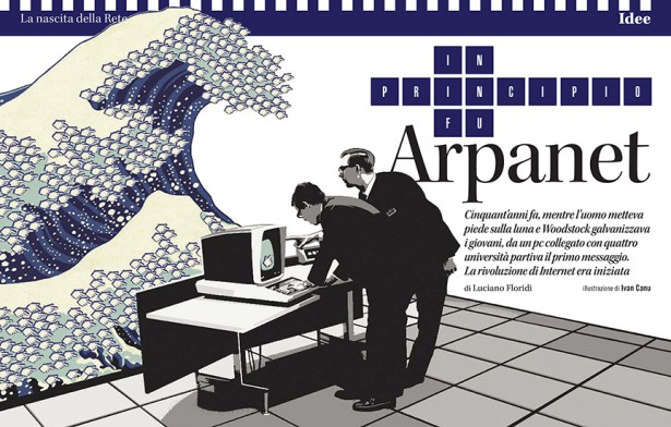 Canu for L'Espresso's Arpanet Article