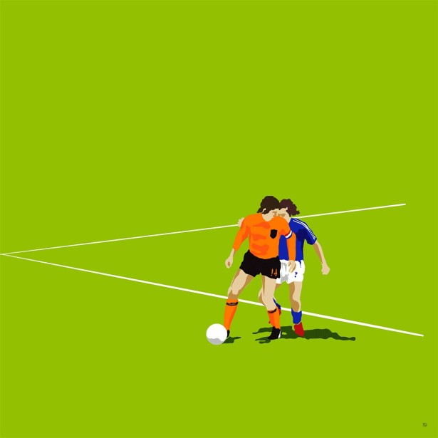 Illustrator Paul Garland creates a gif 'The Cruyff Turn'⁣