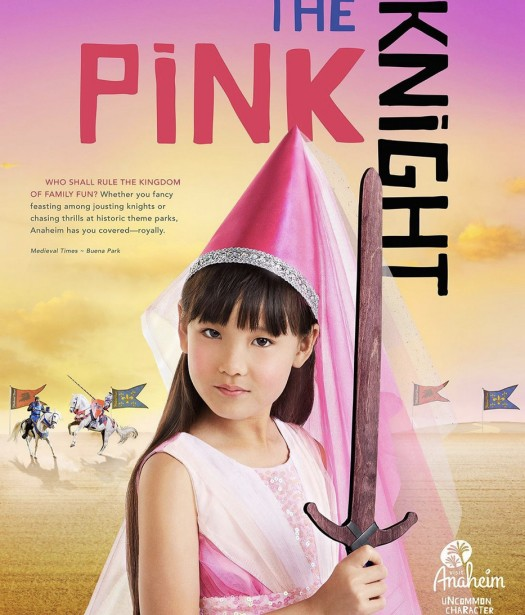 "Holland Photographs A ""Pink Knight"" for Anaheim Campaign"