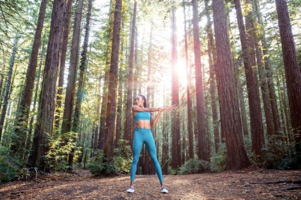 Houser Shoots Forest Fitness At Dusk
