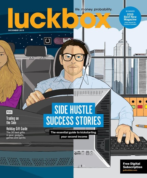 Jonathan Williams Covers This Month's Luckbox Magazine