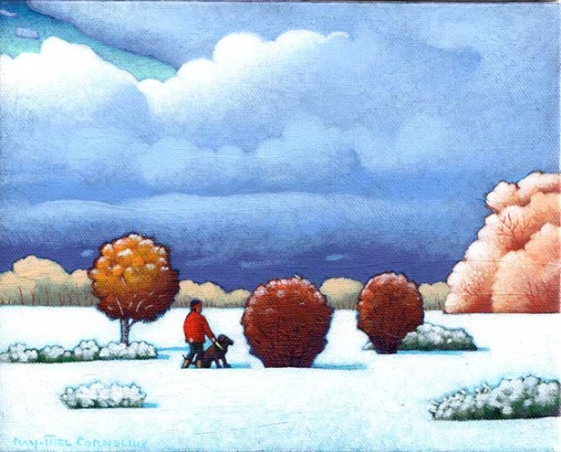 Cornelius Paints A Small Winter Landscape