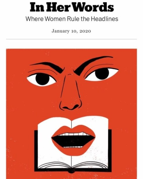 "Hanna Barczyk's ""Her Words"" Illo for NYT"