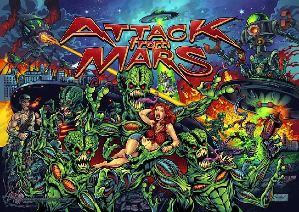 Attack From Mars Alternative Backglass