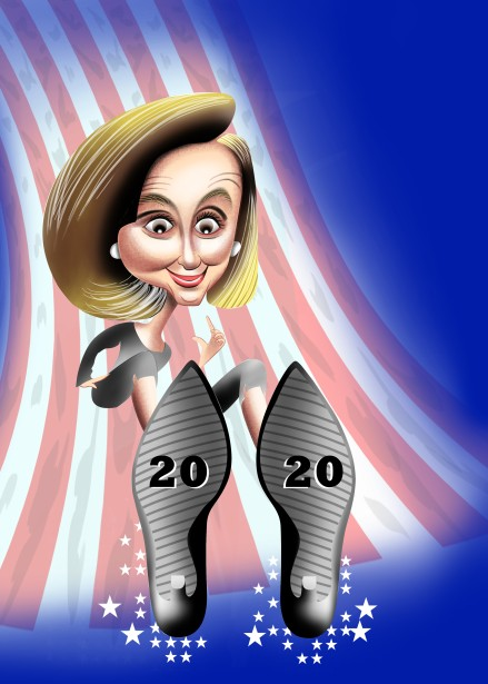 Urs J. Knobel's Portrait Nancy Pelosi