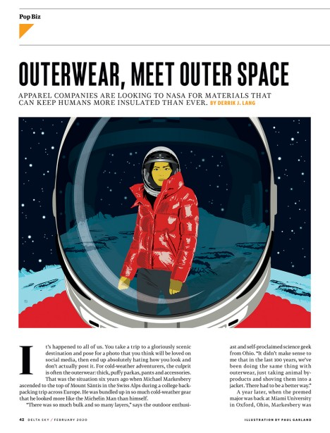 Garland Illustrates Outer(Space)Wear for Delta Sky Magazine