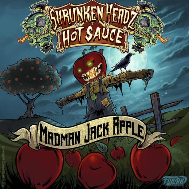 Shrunken Headz Hot Sauce Labels