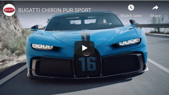 Puschmann Shares Newly Shot Ad for Bugatti Chiron Pur Sport
