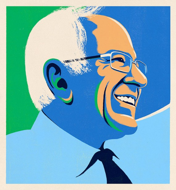 Bejar Illustrates Bernie Sanders for Harper's Magazine Cover Story