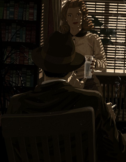 Mark Smith Illustrates Philip Marlowe for Special Alta Noir Issue