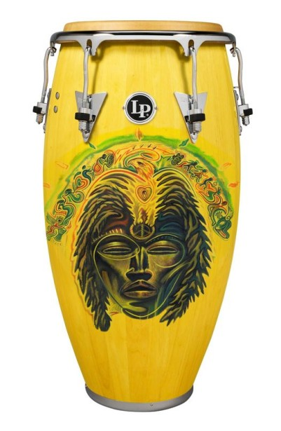 Rudy Gutierrez's Art on Carlos Santana's Conga  Drum!