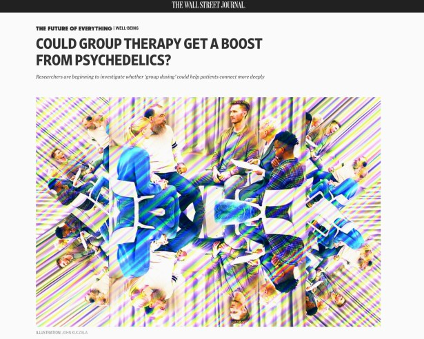 Kuczala Illustrates Psychedelic Group Therapy for WSJ